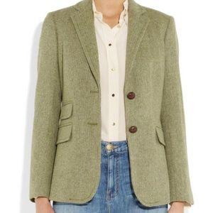 J. Crew Hacking Jacket in Green Herringbone